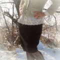 skirt refashion: from black wool sweater