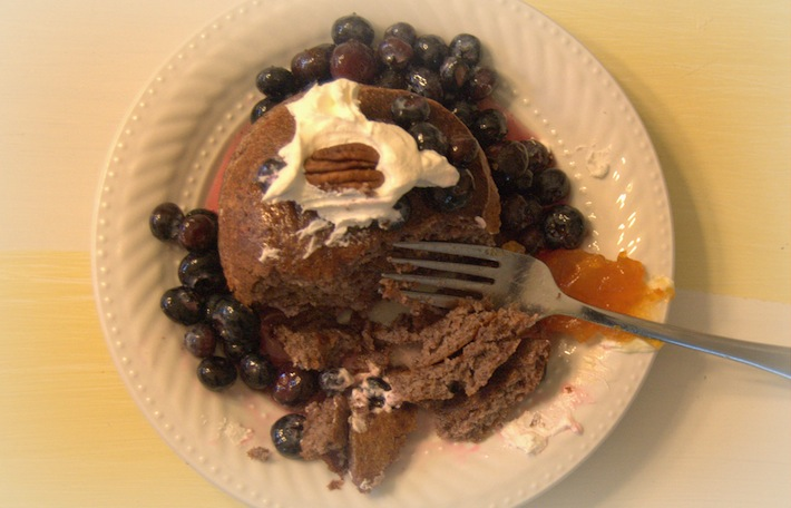 healthy pancakes with quinoa and black rice